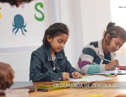 La demanda de l'escola als pares, un suport necessari als aprenentatges dels seus fills.